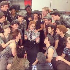 Group talk backstage of Newsies Broadway Theatre, Musical Theatre, Broadway Shows, Tuck Everlasting, Theatre Nerds, Dear Evan Hansen, My Escape, My Photos, It Cast