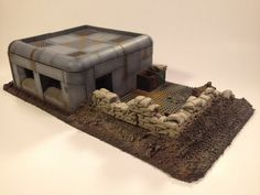 Small Bunker W/ Trench Area : 28mm Wargame by ForgottenLabyrinth