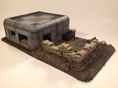 Petit Bunker W / Trench zone : Terrain Wargame & paysage Game Terrain, 40k Terrain, Wargaming Terrain, Bunker, Bolt Action Game, Bolt Action Miniatures, Warhammer Terrain, Warhammer 40k, Army Men Toys
