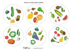 Parler anglais-jeu anglais-dobble-fruits et légumes-fruits and vegetables-learn english Winter Fun, Art For Kids, Tableware, English, Expressions, Club, Games, English Language, Speech Language Therapy