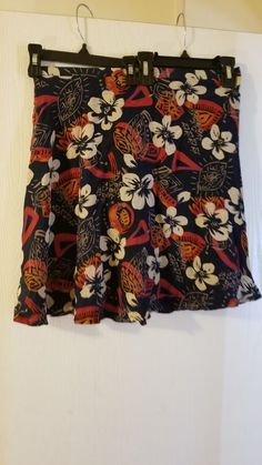 Women's Clothing Intelligent Alfani Womens Skirt Size 4 Red Floral Silk Zipper Fully Lined Spring Q Clothing, Shoes & Accessories