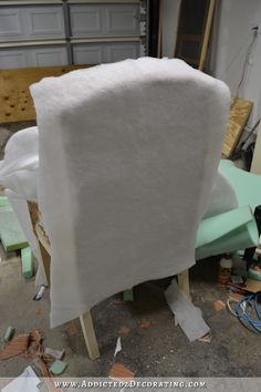 DIY Upholstered Wingback Dining Chair Finished How To Upholster The Frame Part 2