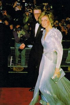 Princess Diana arriving to attend one of her Charity dinner the Dr Barnado's for children