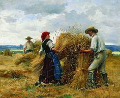Julien Dupre- Stacking Grain Sheaves.