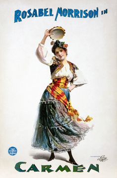 Old Vintage Theatre Poster Carmen - Fade Resistant HD Print or Canvas in Home & Garden, Home Décor, Posters & Prints | eBay