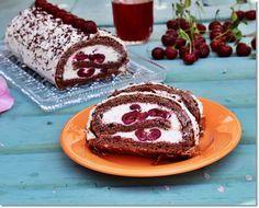 Gizi-receptjei. Várok mindenkit.: Meggyes-mascarponés piskótatekercs. Hungarian Recipes, Creative Cakes, Diy Food, Ham, Cake Recipes, French Toast, Muffin, Goodies, Food And Drink