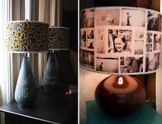 Lampshade w/ photos
