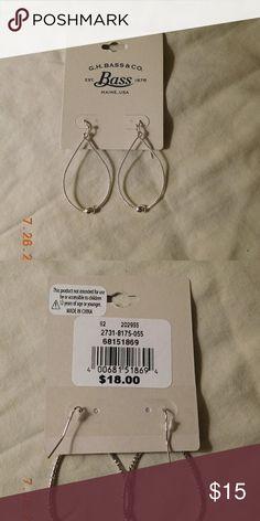 Bass teardrop hoop earrings-NWT Silver lightweight teardrop joop earrings. Brand spankin new. Bass Jewelry Earrings