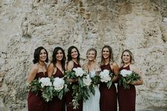 Mix 'n' match dress styles with the classic Shona Joy Bridesmaids range in burgundy