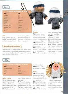 Pesebre Amigurumi patron 3 Crochet Christmas Ornaments, Holiday Crochet, Christmas Nativity, Crochet Giraffe Pattern, Crochet Patterns Amigurumi, Knitting Patterns Free, Crochet Disney, Knitted Dolls, Crochet Dolls
