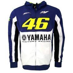 2016 Valentino Rossi VR46 M1 Factory Racing Team Moto GP Adult Hoodie Sports Sweatshirt Jackets Blue
