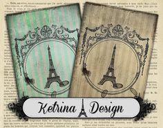 Vintage Paris ATC Cards 2.5 x 3.5 instant by KetrinaDesign on Etsy