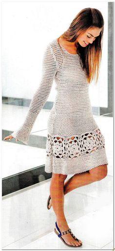 Crochet vestido blanco vestido a pedido envío por idafrompushkin