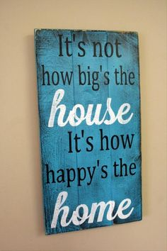 "Color Washed ""Happy Home"" Panel"