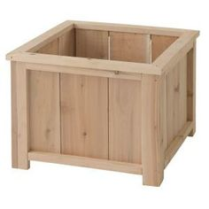 14 In. Square Planter Box Usa Cedar Planter