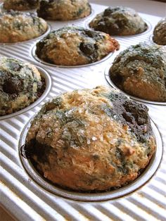 Blueberry Flax Muffins:  Golden Flax To The Rescue.  This is NOT a vegan recipe; eat in moderation. You may choose to make this recipe with non-dairy butter and an egg replacer or cholesterol-free liquid egg in order to make these muffins more lower-my-high-cholesterol appropriate.