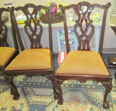 We have 10 of these nice dining room chairs. The upholstery is great or it would be very easy to reupholster them also
