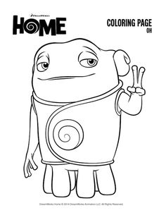 DreamWorks Home Printables A Giveaway Coloring SheetsColouringColoring