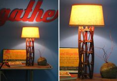 Disassemble your manual mower and make a stunning lamp