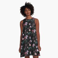 Black Background Design, Flamingo Pattern, Peach Colors, Pastel Pink, Vintage Floral, Dress Vintage, I Dress, Chiffon Tops, Designer Dresses