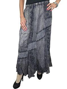 Womens Vintage Skirt Dancing Gypsy Ari Embroidered Stonewashed Peasant Black Maxi Skirt (Waist: 28-34 inches) Mogul Interior http://www.amazon.com/dp/B00PQ8AK74/ref=cm_sw_r_pi_dp_FfEAub0G8HBF0