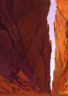 Canyon floor
