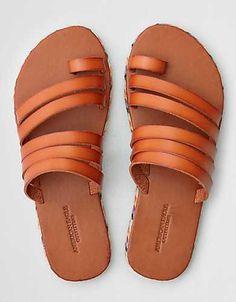 7bbfdcbc1 AEO Toe Ring Wrapped Slide Sandal Toe Loop Sandals