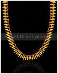 Mullamottu Mala - Traditional Gold Ornaments of Kerala Kerala Jewellery, India Jewelry, Gold Earrings Designs, Gold Jewellery Design, Necklace Designs, Gold Designs, Silver Jewellery, Wholesale Gold Jewelry, Gold Wedding Jewelry