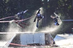Tommy Bartlett Show in Wisconsin Dells celebrated 60 years on water, on stage and high in the sky! Professional water skiers perform flips, jumps, spins & build the signature three-tier human pyramid. Daredevil entertainers, comedy juggling. Evening show features an Entrancing Waters finale.