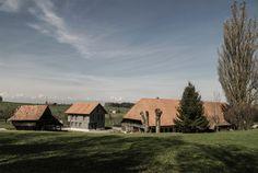 Orgastritt Architekten - Stöckli house reconstruction, Ueberstorf 2014. Via, 2, photos © Nadine Andrey.