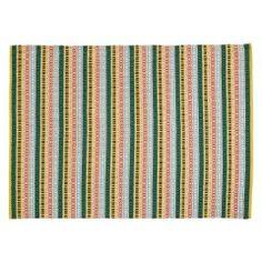 LOGAN Medium multi-coloured stripe flat weave rug 140 x 200cm