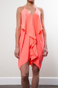 Coral South Beach Flutterby Dress