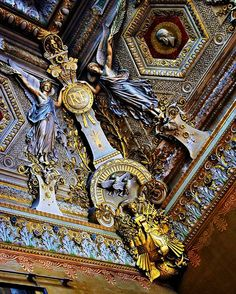 Details, details...Ceiling in the Louvre, photo by George Reader via Flickr.