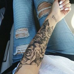 Pictures of rose tattoos on arm – Tattoo 2020 Rose Tattoo On Arm, Rose Tattoos, Flower Tattoos, Body Art Tattoos, Girl Tattoos, Tatoos, Tattoo Arm, Samoan Tattoo, Hand Tattoos