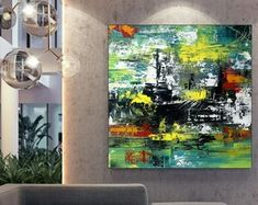Apartment Decor Original Art Artwork Acrylic Painting | Etsy Large Canvas Art, Large Painting, Original Artwork, Original Paintings, Oversized Wall Art, Bathroom Wall Art, Extra Large Wall Art, Modern Wall Art, Abstract Wall Art