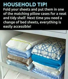 Organizing sheets and pillow cases
