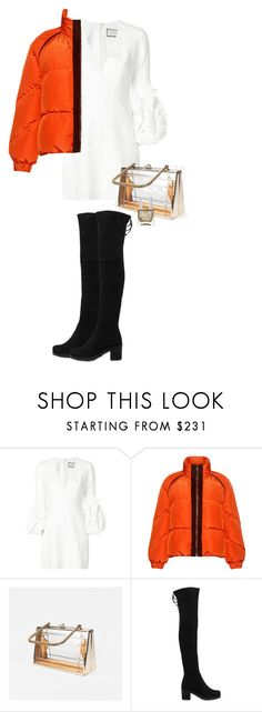 """""""White as Snow"""" by busrashin ❤ liked on Polyvore featuring Alexis, Ganni, Stuart Weitzman and Nails Inc."""