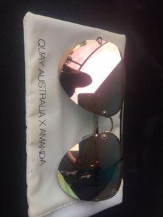 Quay Australia X Amanda Muse Sunglasses Gold / Pink