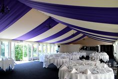 Hunton Park - Summer Marquee Hunton Park Summer Marquee - One marquee hundreds of ideas to make your wedding unique to you! Hunton Park, Park Hotel, Wedding Venue Decorations, Wedding Venues, Table Decorations, Wedding Unique, Unique Weddings, Ceiling Decor, Blessing