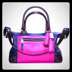 Coach Legacy Molly Colorblock Satchel Like new! Purchase for $398 at Dillard's. (relist) Coach Bags Satchels