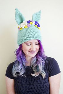 Adorable! Hyzenthlay Rabbit Ears Beanie pattern by Sheila Toy Stromberg