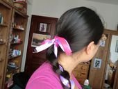 put a ribbon in your hair  (like song lyrics )
