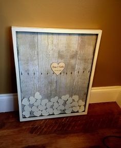 Unique Wedding Guest book Frame, Baby Shower Wall Art Top Drop in ...