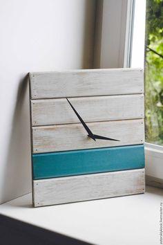 """Monimalism wooden wall clock / Купить Часы """"Горизонт"""" - комбинированный, часы, часы настенные, часы интерьерные, часы ручной работы"""