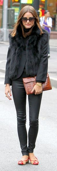 Vest – Haute Hippie, Pants – Members Only, Purse – Hermes Jige clutch, Sunglasses – Christian Dior, Shoes – Sturdy French Sole (2010)