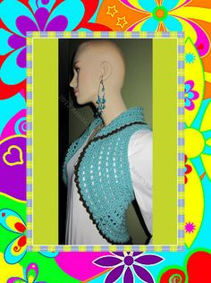 Blue Bolero Funky & Colorful Handcrafted 100 by ArtisticFunk, $50.00