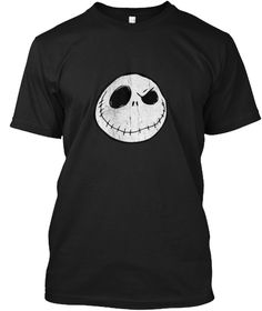 Dis Ney Nightmare Before Christmas Black T-Shirt Front