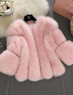 pink faux fur coat LightInTheBox