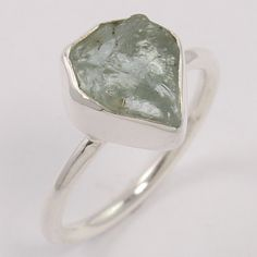 Wholesale Price 925 Sterling Silver Ring Size US 8 Natural AQUAMARINE Rough Gems #Unbranded