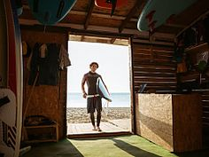 Sports man going to the beach shack with surf board photo by vadymvdrobot on Envato Elements Surf Shack, Beach Shack, West Africa, South Africa, Surf Boy, Learn To Surf, Close Up Portraits, Big Waves, Sport Man